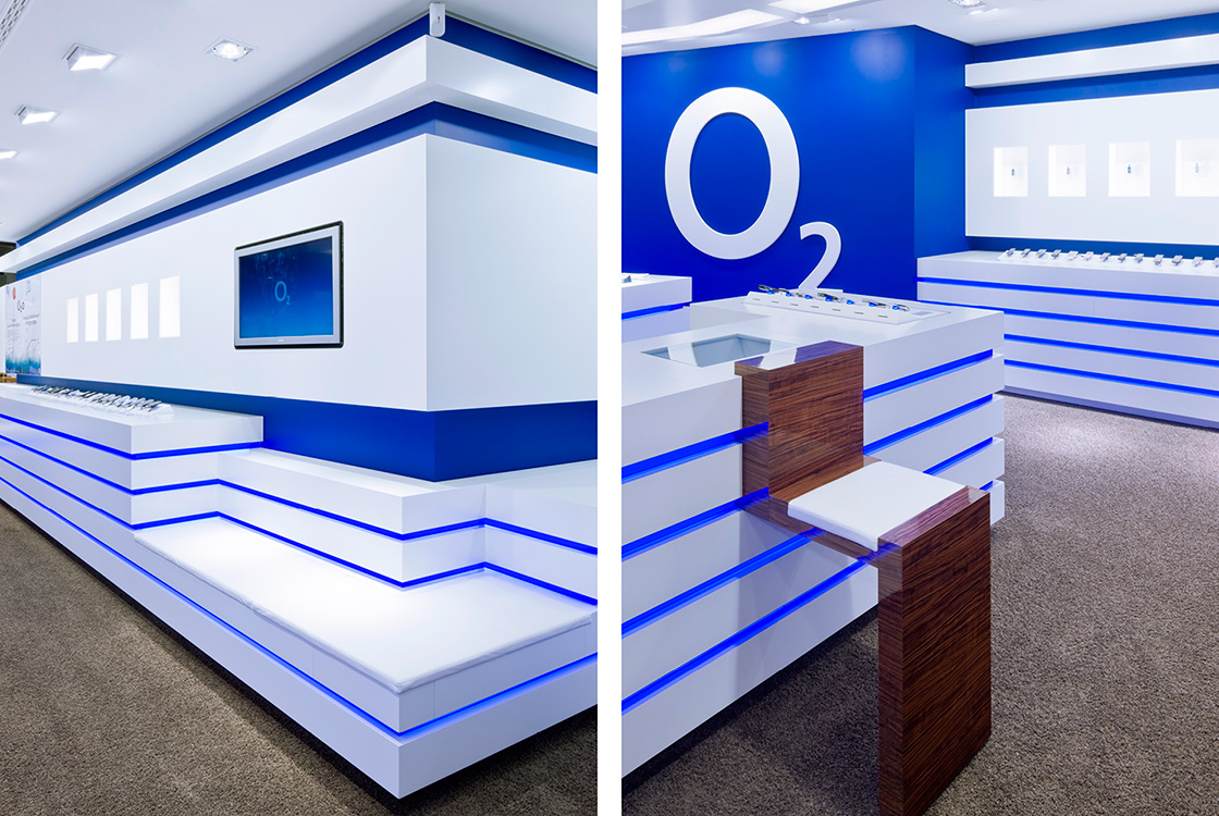 Marke: Retaildesign o2 Flagshipstore in Berlin
