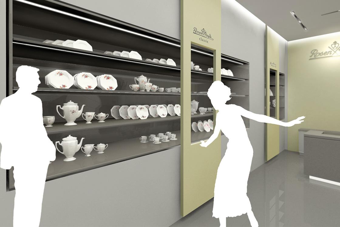 Marke: Retailkonzept Markenwelt für Rosenthal Porzellan
