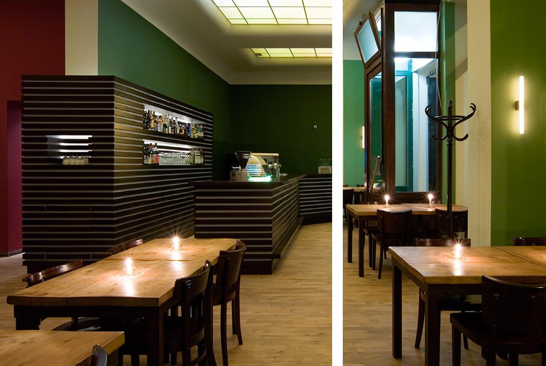 Gastronomiedesign: Italienisches Restauran Aposto in Berlin