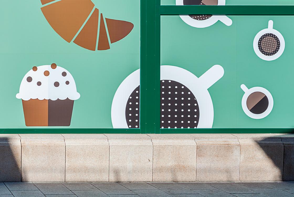 Gastronomiedesign: Café Illy Caffè Bar im Designer Outlet Berlin