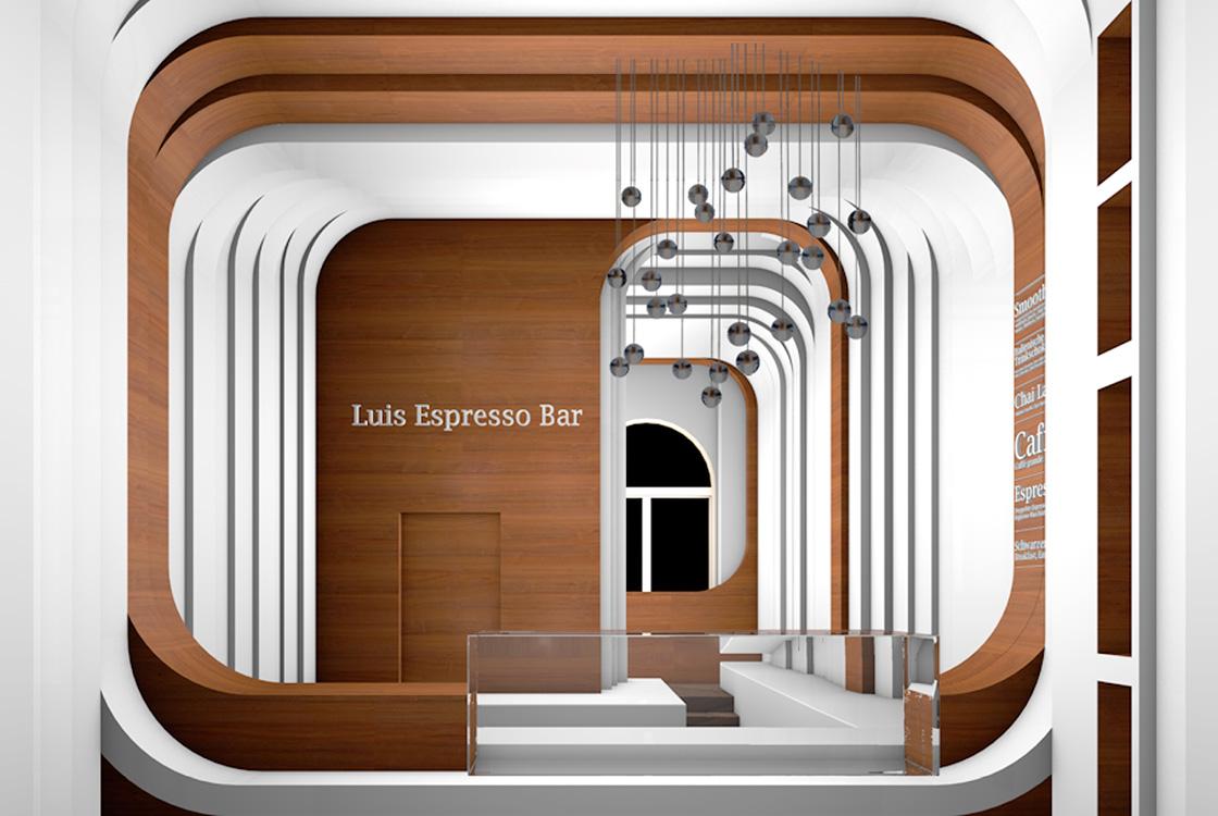 Gastronomiedesign: Adlon Espressobar illycaffè Berlin 01