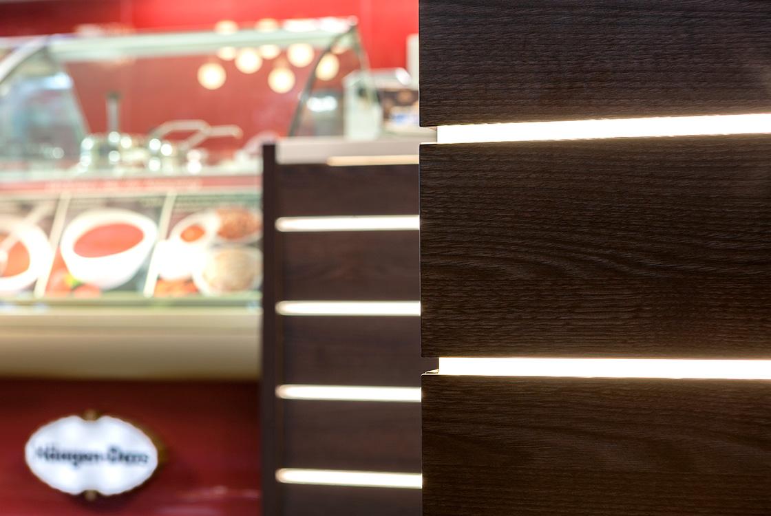 Gastronomiedesign: Häagen-Dazs Bahnhofshop Hamburg und Frankfurt 03