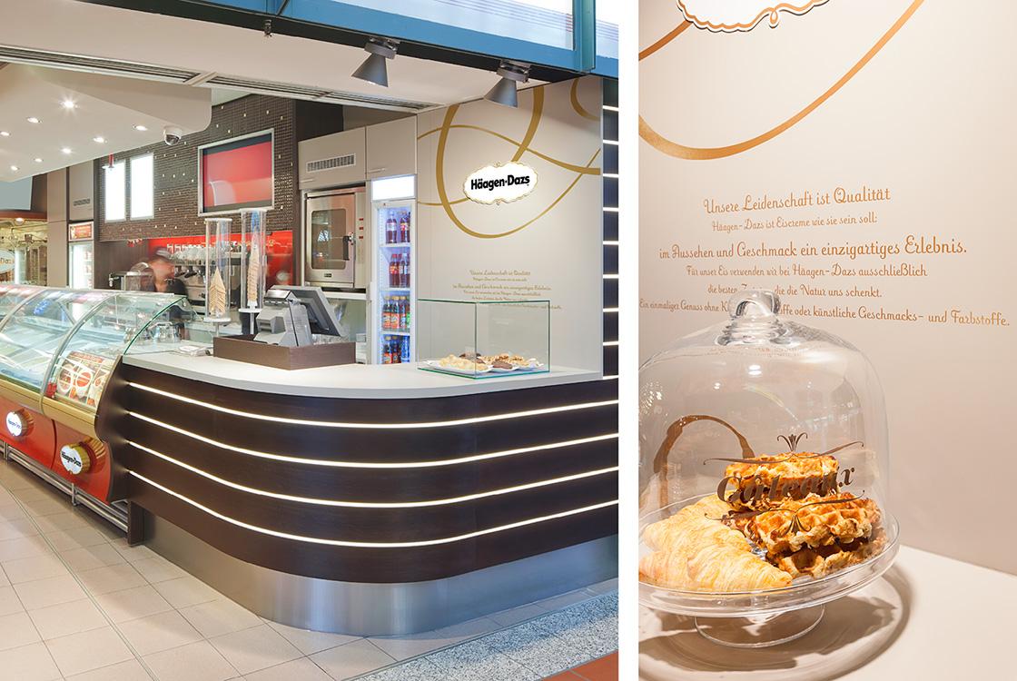 Gastronomiedesign: Häagen-Dazs Bahnhofshop Hamburg und Frankfurt 04