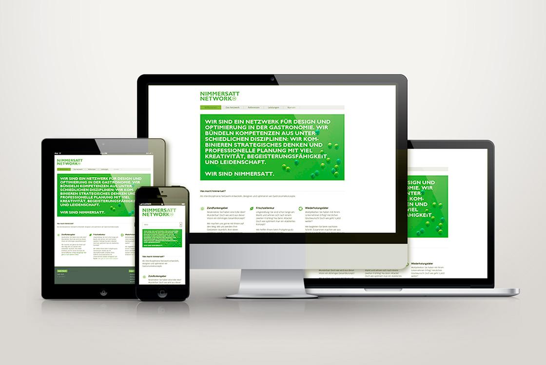 Markenentwicklung: Auftritt interdisziplinäres Netzwerk Nimmersatt Network 01