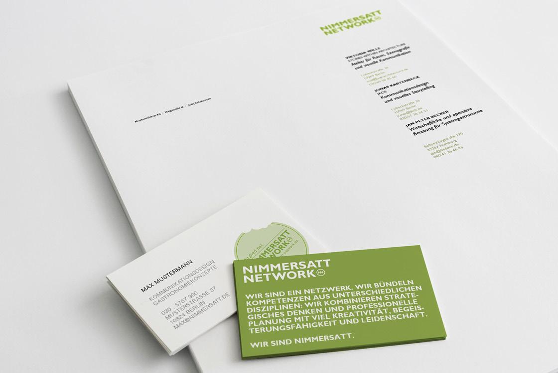 Markenentwicklung: Auftritt interdisziplinäres Netzwerk Nimmersatt Network 03