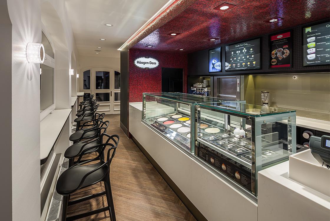 Gastronomiedesign: Häagen-Dazs Shopdesign in Westerland Sylt 01