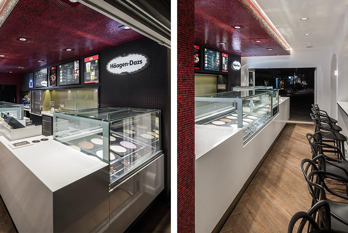 Gastronomiedesign: Häagen-Dazs Shopdesign in Westerland Sylt 02