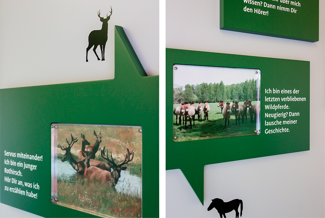 Grafik und Kommunikation: Ausstellungsflyer und interaktive Karte Döberitzer Heide
