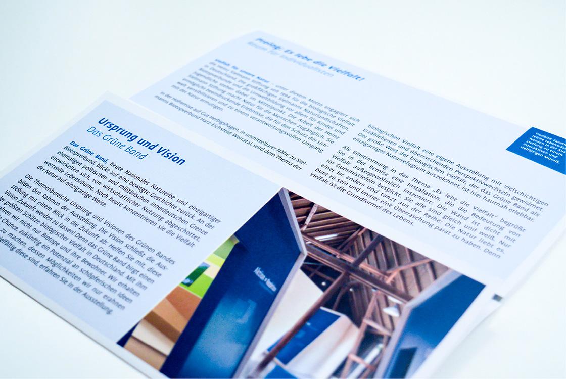 Grafik und Kommunikation: Infoflyer Heinz Sielmann Stiftung Gut Herbigshagen 02